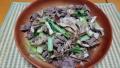 小松菜と舞茸の牛肉炒め 20211022
